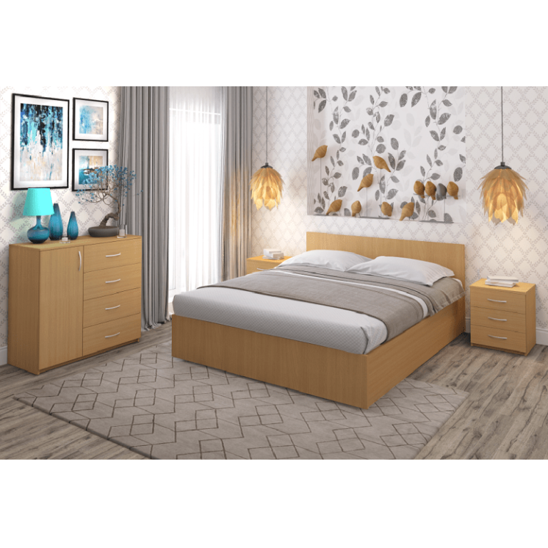 Кровать Рено 2 бук-265 в интерьере