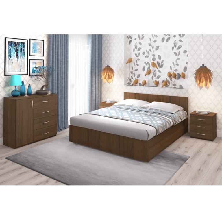 Кровать Рено 2 Орех эко Промтекс-Ориент
