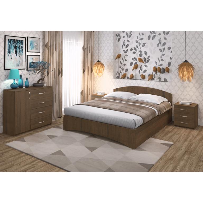 Кровать Рено 1 Промтекс-Ориент орех эко