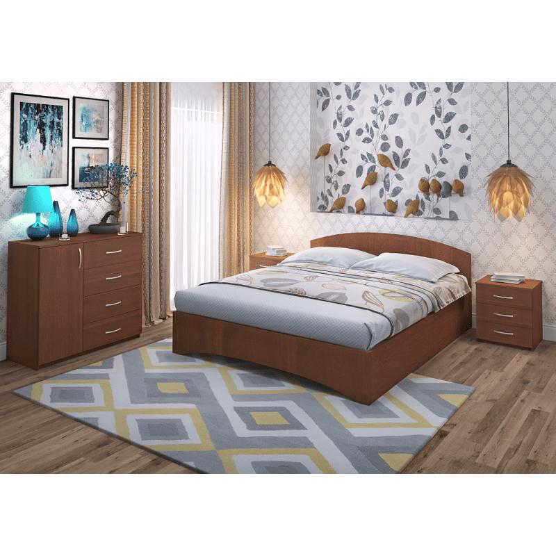 Кровать Рено 1 Промтекс-Ориент орех-592